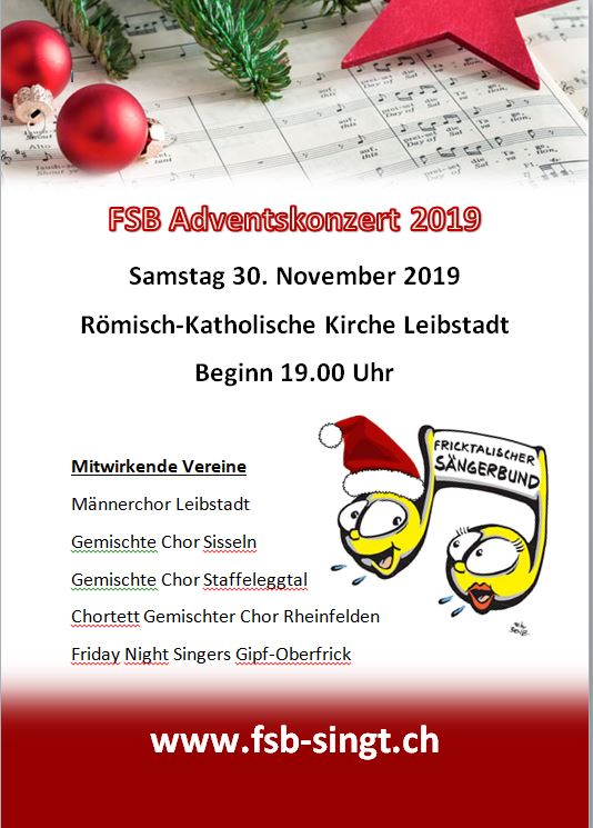 Flyer Adventskonzert 2019